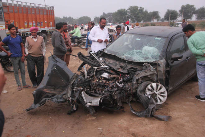 Road accident leaves four dead, over 10 hurt