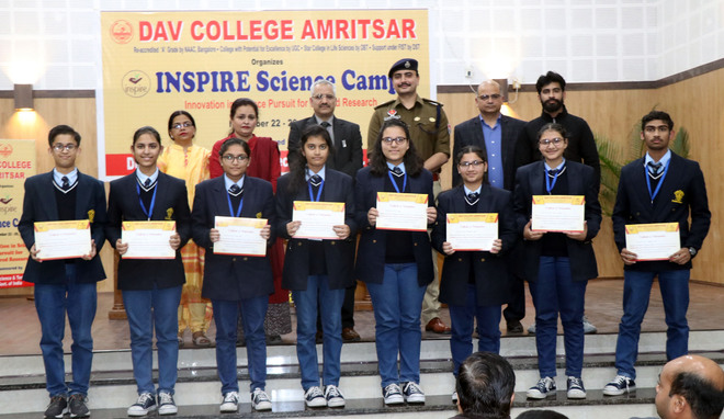 Five-day science camp concludes at DAV College
