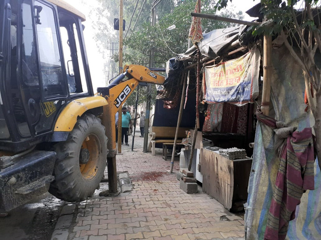 Encroachments removed