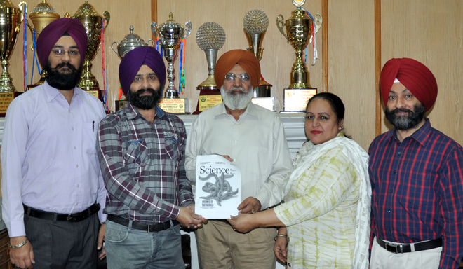 Khalsa College prof's paper on earthworms in Science