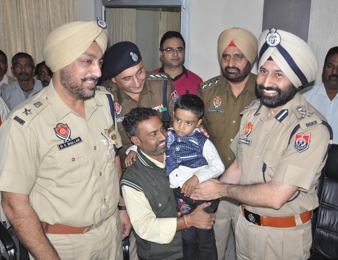 Boy reunited with family
