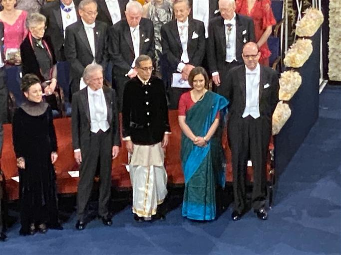 Here's what Abhijeet, wife wore to receive Nobel