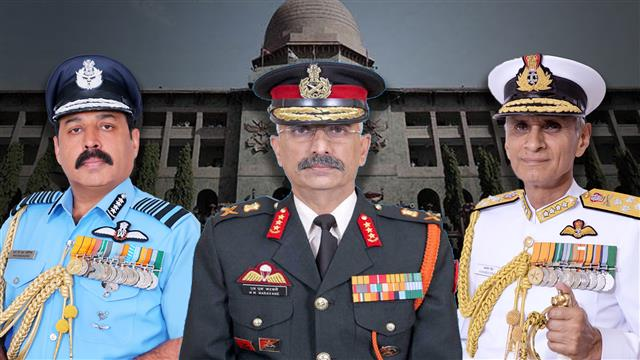 For second time in history, all three Chiefs to be from same NDA course