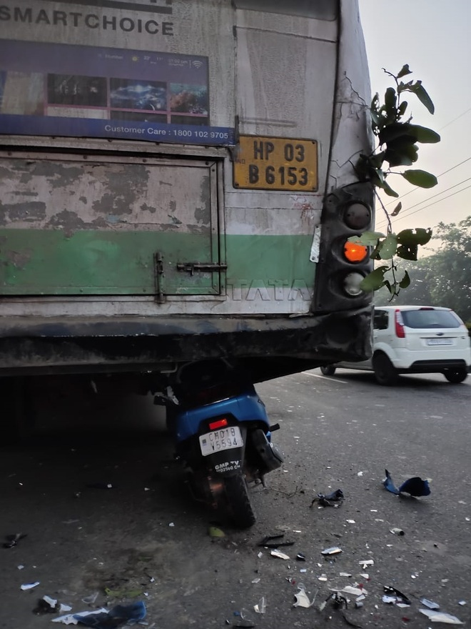 Man killed, youth injured as scooter rams into bus