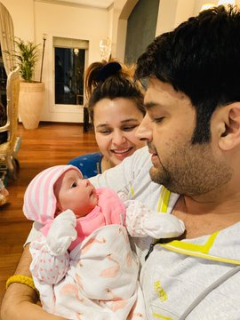 Kapil Sharma holds his daughter, Anayra, in never-seen-before pictures; Twitter calls her an 'angel'