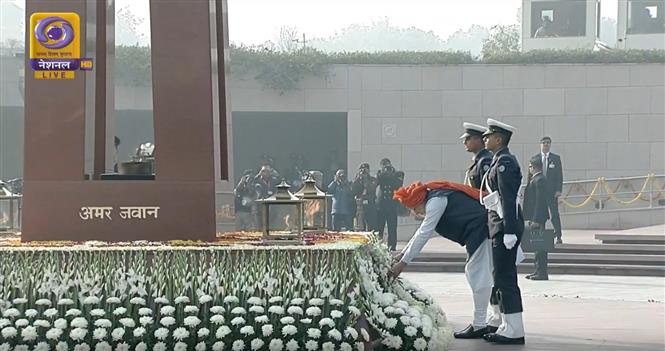 PM pays homage to fallen soldiers at newly built National War Memorial for first time