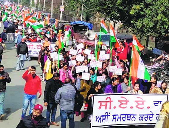 Rally in support of CAA held