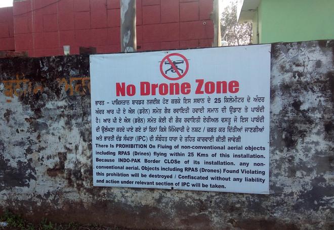 Border area declared 'no drone zone'