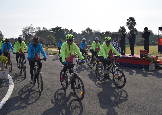 Cycle expedition to address issues of veterans concludes