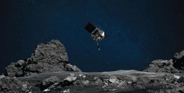 NASA spacecraft grabs sample of rocks from asteroid