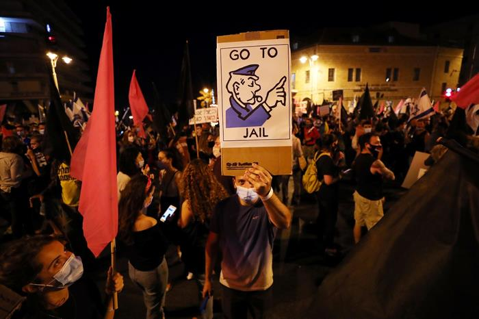 As lockdown eases, Israelis again gather against PM Benjamin Netanyahu