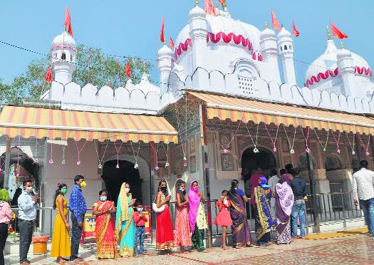 16K throng Mansa Devi against 11K limit