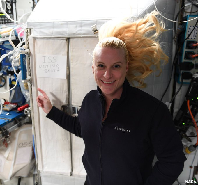 Astronaut Kate Rubins votes from space in US elections; NASA shares pic
