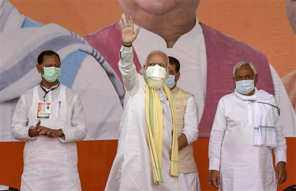 Ahead of PM's rally, Nitish Kumar goes missing from BJP posters in Patna