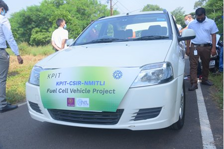 CSIR, KPIT conduct successful trial runs of hydrogen fuel cell prototype car