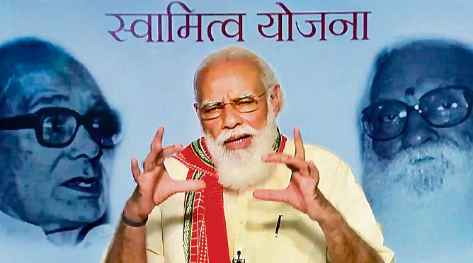 PM launches property card scheme for rural households