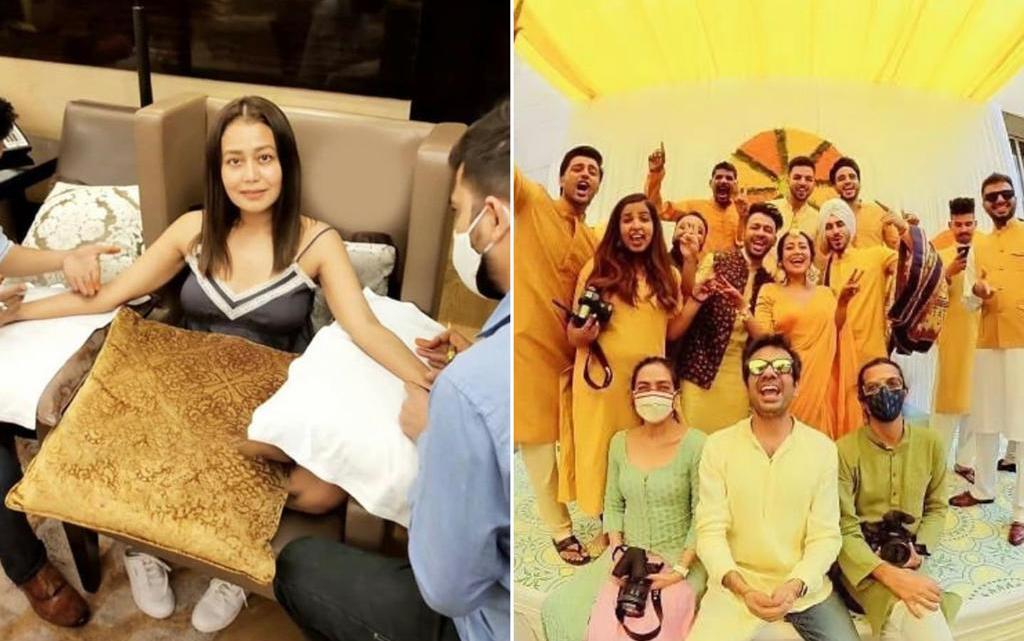 Neha Kakkar, Rohanpreet Singh's pre-wedding functions begin; pictures from haldi and mehndi rituals leaked
