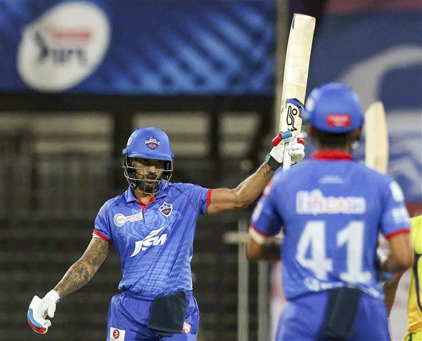 IPL: Dhawan strikes maiden IPL hundred; DC go on top of table with 5-wicket win over CSK