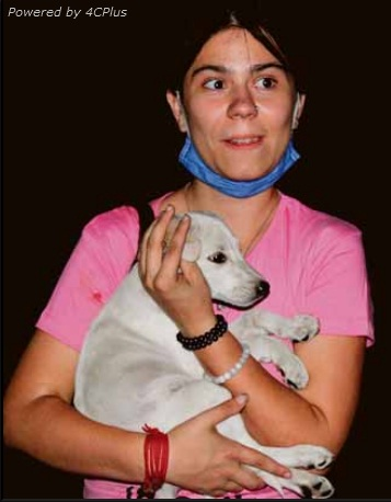 Foreign student adopts stray dog in Amritsar