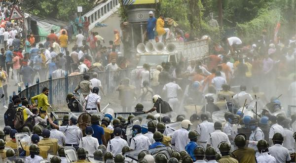 Bengal violence: BJP slams Mamta Banerjee, claims chemical-laced water cannons used against them