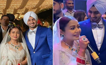 Neha Kakkar and Rohanpreet Singh host reception at Chandigarh; newlyweds sing romantic song; see pictures