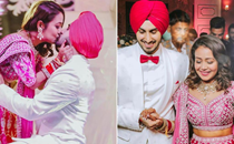 Neha Kakkar and Rohanpreet Singh seal it with a kiss; singer shares new pictures from engagement