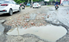 Beant Singh roundabout road cries for attention
