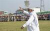 Nitish Kumar faces protest at public meeting; slams RJD