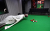Pakistani man born without arms masters playing snooker with chin