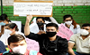 Resident doctors of NDMC hospitals protest at Jantar Mantar over salary dues