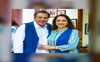 Dharmendra and Hema Malini twin in blue; see pictures from Dream Girl's birthday bash