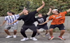 4 brothers dancing to Daler Mehndi's track Tunak Tunak Tun in complete synchronisation has left netizens impressed; watch