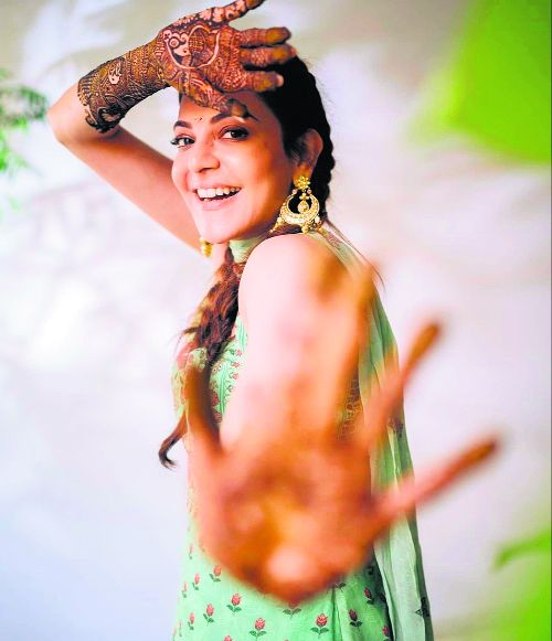 Kajal Aggarwal gives a glimpse of her pre-wedding ceremonies
