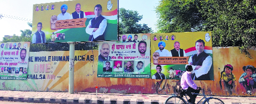 Billboards dot Patiala, civic body turns blind eye