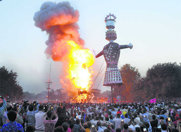 No burning of Ravana effigy by committees this Dasehra