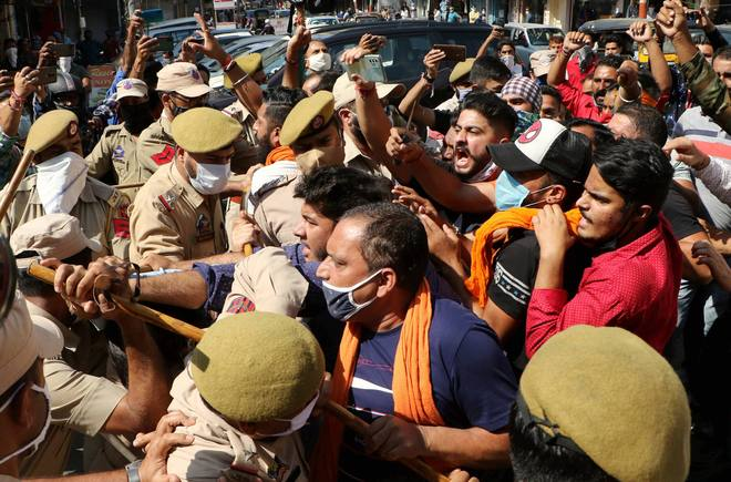 Angry protest against Farooq's China remark