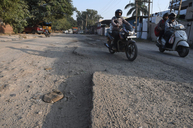 No smooth ride in Industrial Area of Panchkula