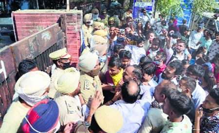 Denied admissions, SC students hold protest