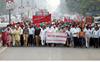 Staff union protests pending DA arrears