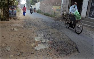 Dug up to lay cables, repair work falls victim to official apathy