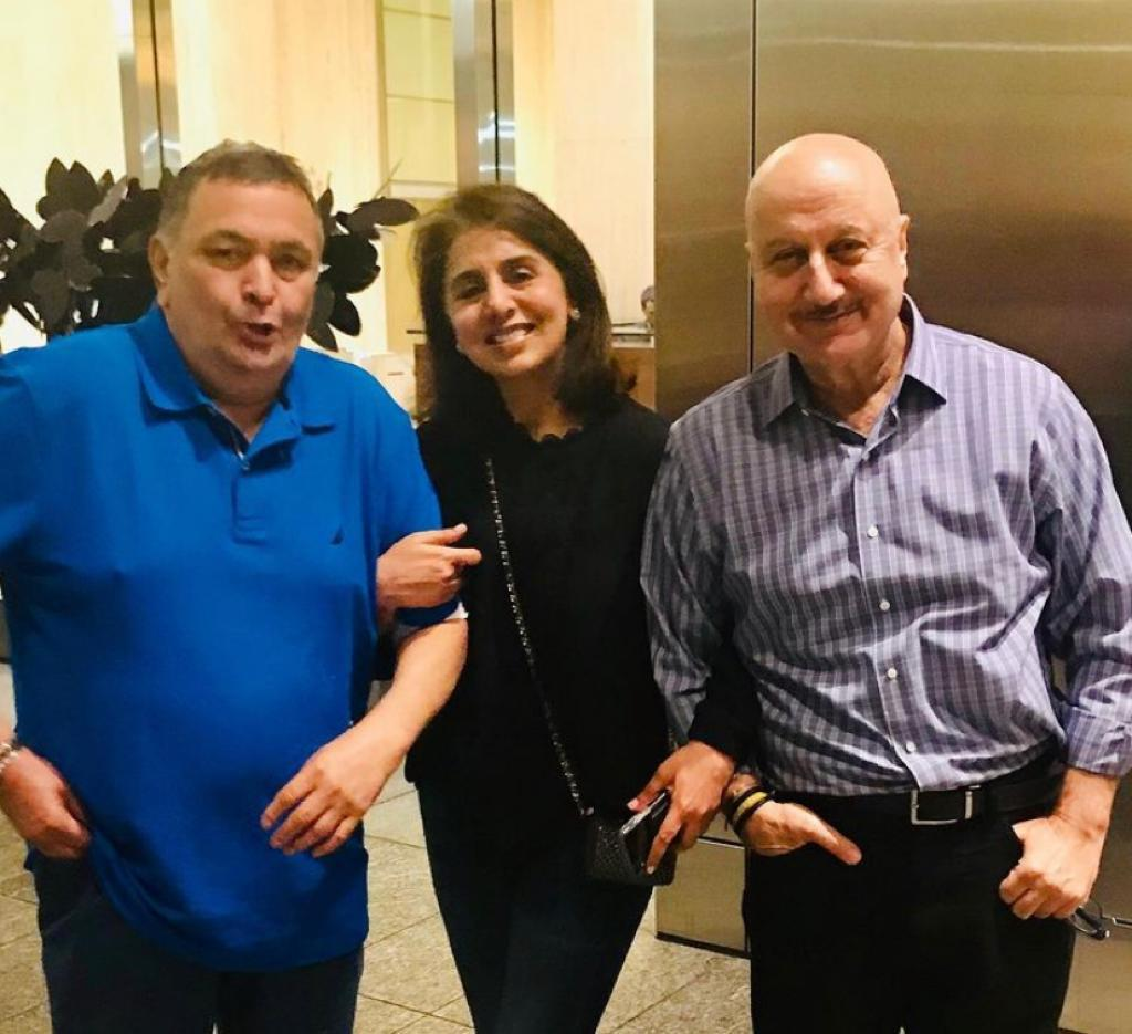 Anupam Kher meetsNeetu Kapoor in Chandigarh without Rishi Kapoor; read his emotional message