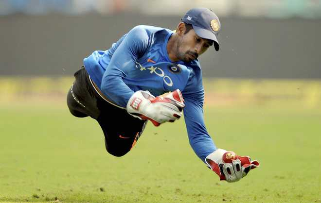 Wriddhiman back at India nets, on road to recovery