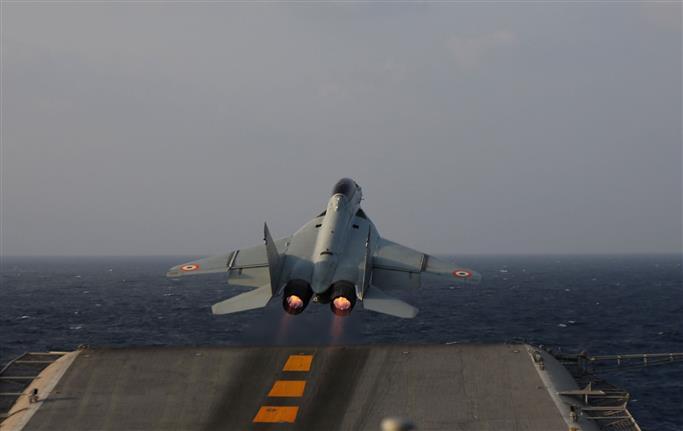 MiG-29K fighter jet of navy crashes off Goa over Arabian Sea