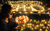 Pre-recorded prayers played in dormitories for migrant workers celebrating Diwali in Singapore