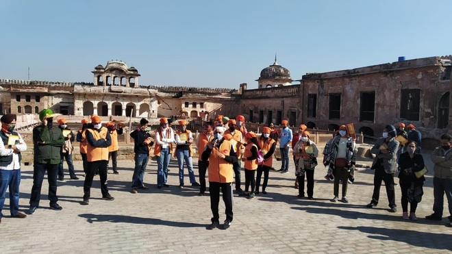 Walk to create awareness on heritage organised at Qila Androon in Patiala