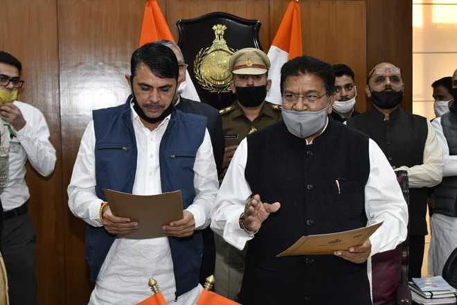 Baroda MLA Indu Raj Narwal takes oath