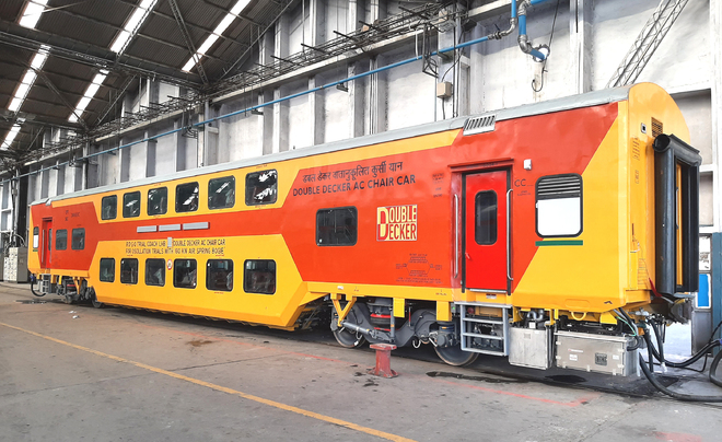 RCF rolls out double-decker coach with 160 kmph speed potential