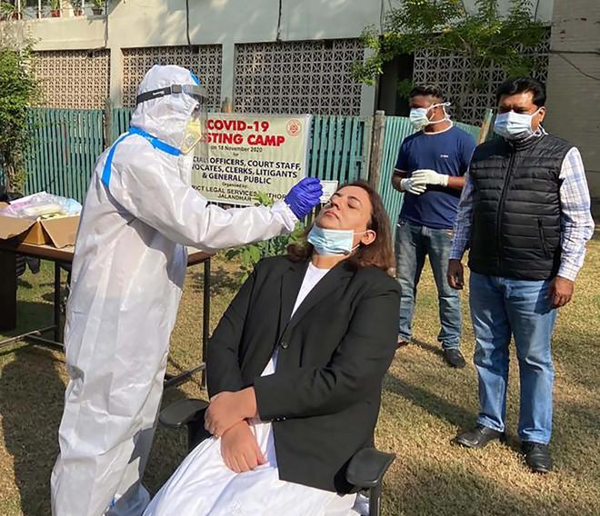 Covid-19 testing camp held at district judicial complex Jalandhar