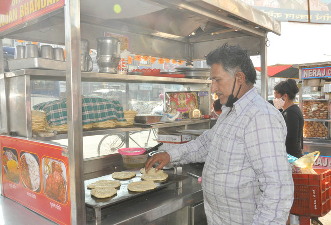 His dhaba experience came in handy to set up chhole-bhature stall
