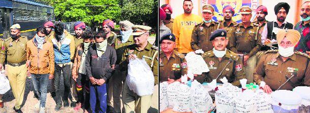 11-kg heroin seized, 4 smugglers held